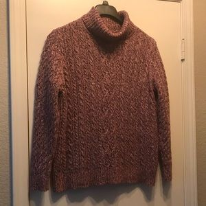 Croft &Barrow sweater XL pink/ brown 100% cotton